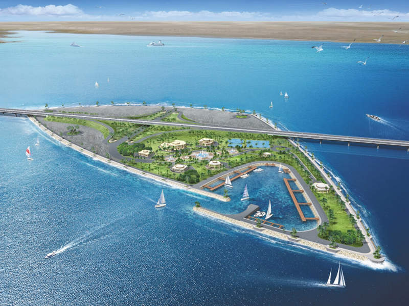 The project includes the construction of two artificial islands spanning 30ha. Image courtesy of Kuwait Ministry of Public Works.