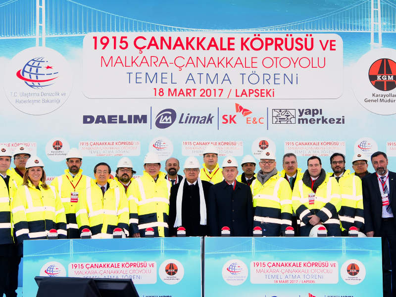 The Canakkale 1915 bridge is expected to improve the transportation network in Turkey. Image courtesy of Limak Holding.