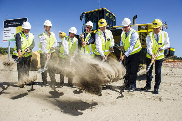 Ground-breaking for the Gateway WA project took place in February 2013. Image courtesy of Gateway WA.