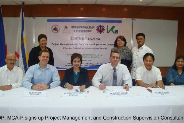 The project management and construction supervision contract for SRNDP was awarded to Katahira Engineers International (KEI). Image courtesy of Millennium Challenge Account-Philippines.