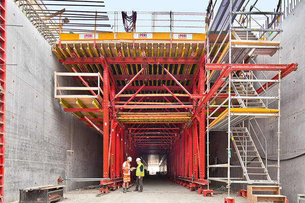 PERI Group provided formwork design for the Nordhavnsvej tunnel.