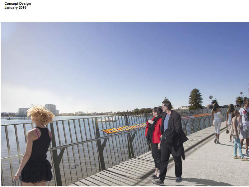 The new bridge offers increased clearance height to Port Mandurah canals. Image courtesy of Government of Western Australia.