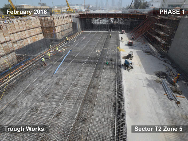 A precast yard has been built specifically to continue work related to the project without disrupting the traffic. Image courtesy of Weber Shandwick.