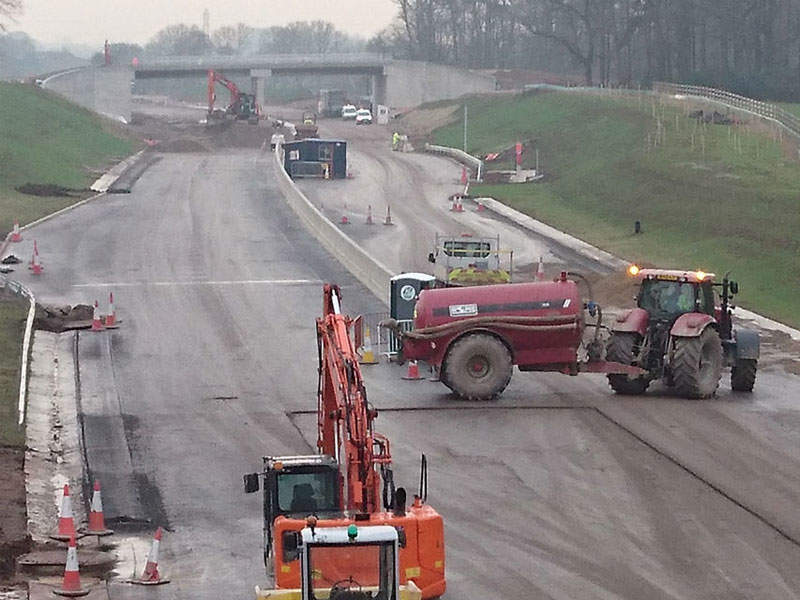 The final phase of works on the dual carriageway began in February 2017. Image: Crown copyright.