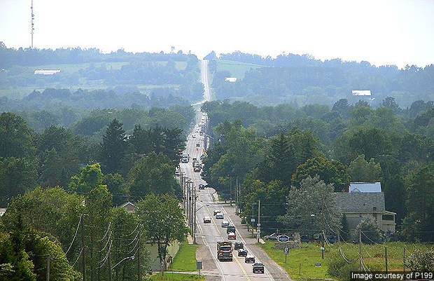 Highway 7 passing through the city of Kawartha Lakes.