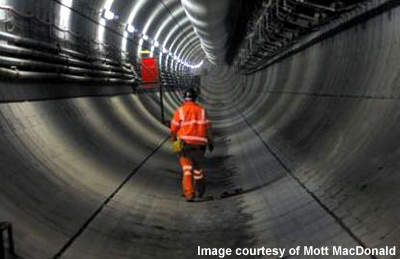 The 1.3km-long tunnel is constructed as twin bore and cost £140m.