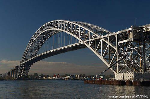 The bridge was designed by Othmar Herrmann Ammann.