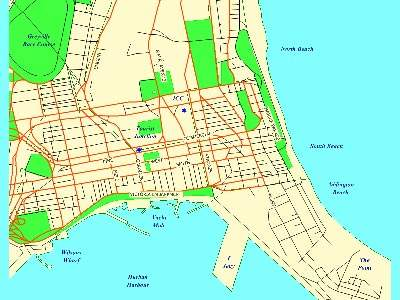 Map of Durban showing the CBD. In the future the parking scheme may well be extended to the rest of the city.