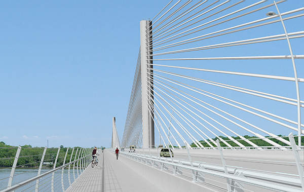 The Downtown Bridge or crossing will be designed, financed and constructed by the Kentucky Government.