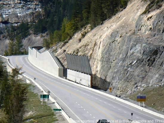 The third phase of the Kicking Horse Canyon upgrade will see the remaining 17km of road upgraded to four lanes to improve safety and minimise rockfall hazard on the road.