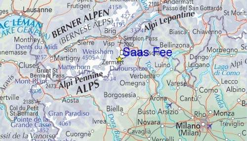 Map showing the location of Saas.