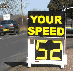 Portable speed measurement sign