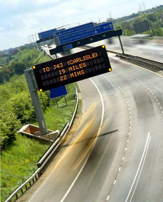 VMS signs will increase safety on the M6.