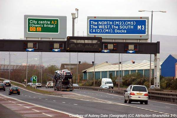 The upgrade of the Westlink is set to improve routes into Belfast city centre.