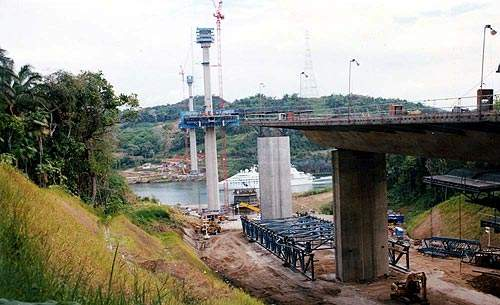 The second Panama Canal crossing is located 15km north of the first bridge, Puente de las Americas.