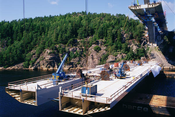 The Svinesund road bridge on the E6 highway was completed in 2005. Image courtesy of Lennart Forsberg.