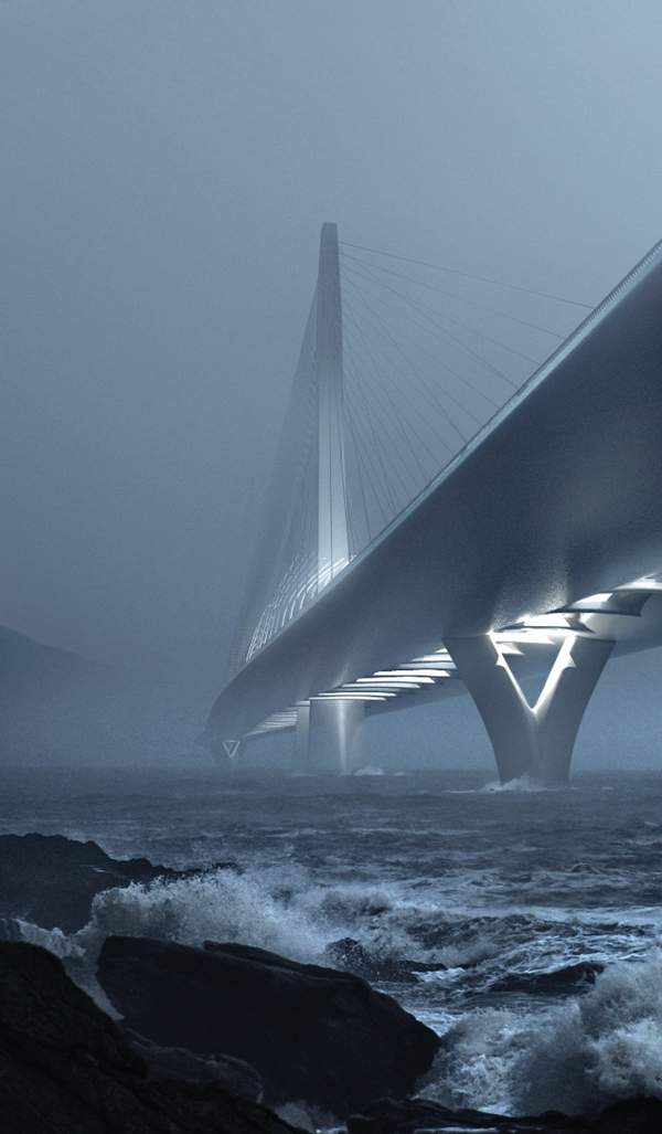 The new Danjiang bridge is expected to become a notable landmark in Taipei. Image: Danjiang Bridge by Zaha Hadid Architects, render by MIR.