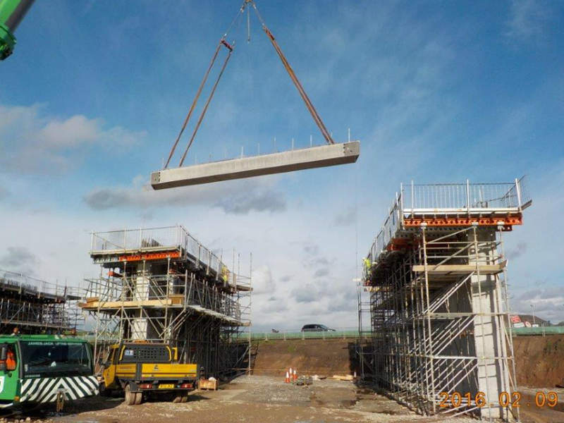 A new bridge was constructed on the route as part of the Knutsford-Bowdon Improvement scheme. Image: Crown copyright.