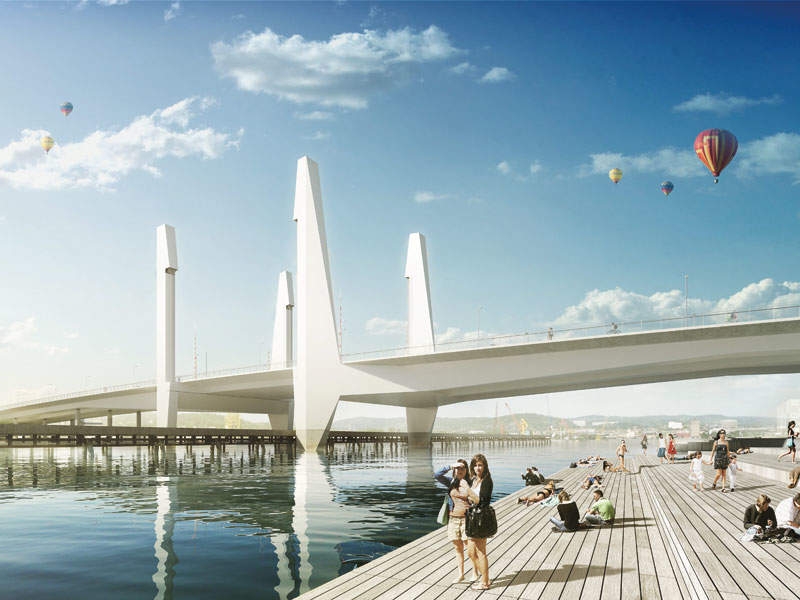 The bridge will also enable shipping in the future. Image: courtesy of Mattias Henningsson-Jönsson.