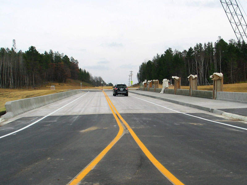 County Road 11 was opened for traffic in October 2016. Image courtesy of Minnesota Department of Transportation.