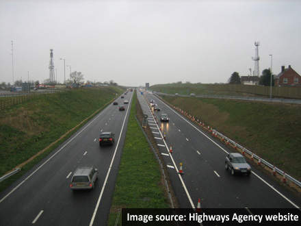 The southbound carriageway from Castle Eaton Junction to Turnpike is now open.