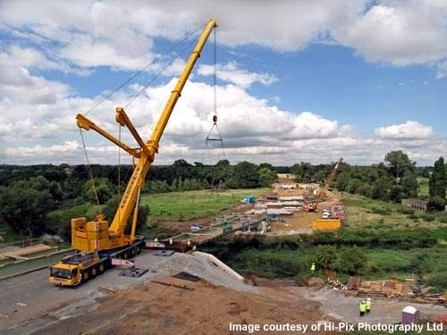 The new bridge is designed to withstand heavy traffic loads and also any flooding from the River Avon.