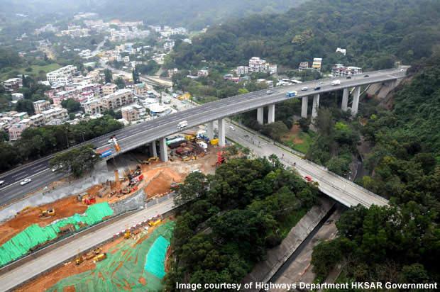 Constructing new bridge no. 10A alongside existing bridge.