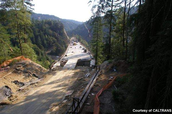 Excavation work is continuing to link the two Confusion Hill bridges and complete the project.