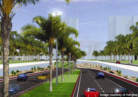 Artist's rendition of the F Ring Road.