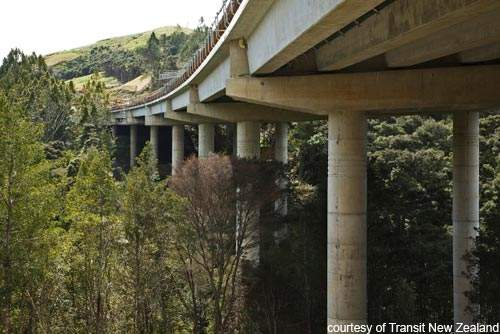The Otaneura eco-viaduct has been constructed to provide an ecological corridor to the wildlife beneath.