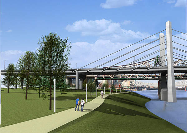 The project will consist of bicycle and pedestrian lanes, as originally proposed in 2003.