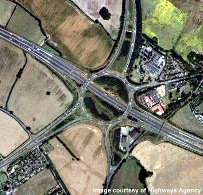 The roundabout approaches on M40 Junction 15 were improved and new traffic lights installed.