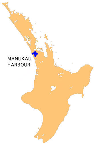 The Manukau Harbour is on the north island in Auckland.