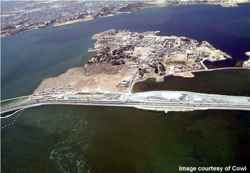 Nabeh Saleh Island, the middle of the causeway, will have one of the project's flyovers.