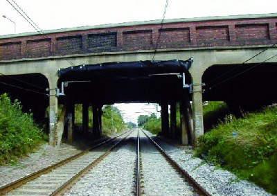 The old brick built Perryn Road bridge.