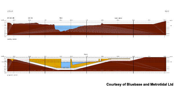 The Medway-Canvey Island tunnel will be laid in a trench dredged across the bed of the Thames Estuary.