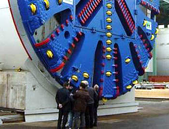 One of the 2 x 13.2m diameter tunnel boring machine – one of the world's largest.