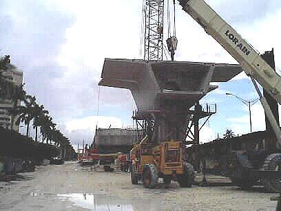 Erecting segments for the bridge