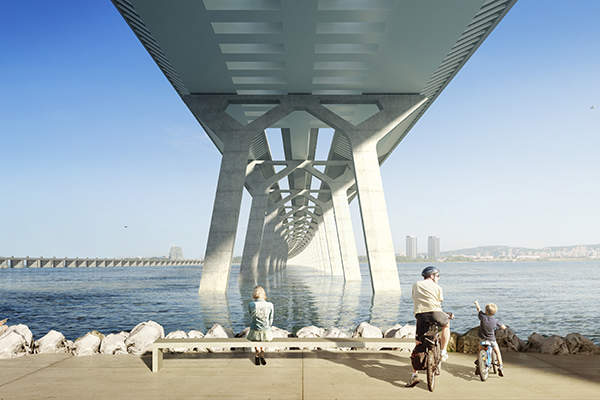 The bridge construction is expected to be completed by December 2018. Credit: Infrastructure Canada.
