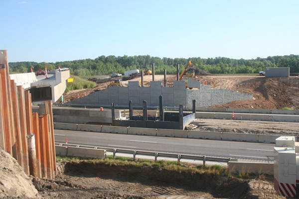 The project also included the construction of the new Chesterfield Airport Road interchange.