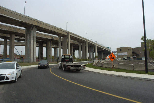 The extension of the Côte-Saint-Paul was completed in 2013. Image: courtesy of Québec Ministry of Transportation.