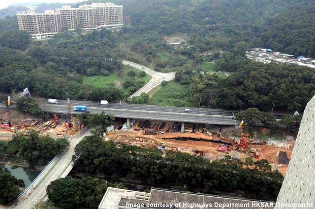 Constructing new bridge no. 11A alongside existing bridge.