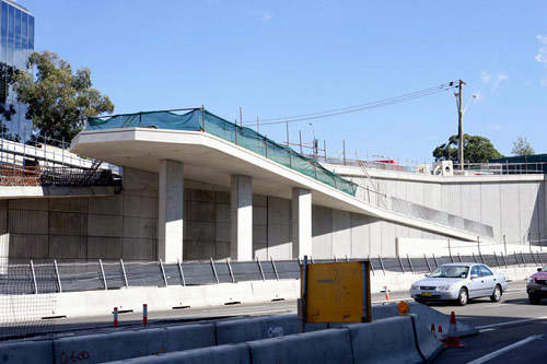 One of the pedestrian and cycle ramps installed as part of the project.