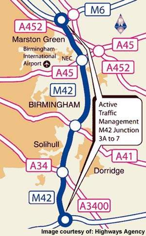 The M42 scheme was first introduced between junctions 3a and 7 and the scheme will now be extended to the motorways around Birmingham in a new £150m project.
