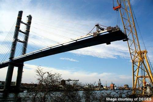 The six bridges for the new Stresalund crossing took three years to construct.