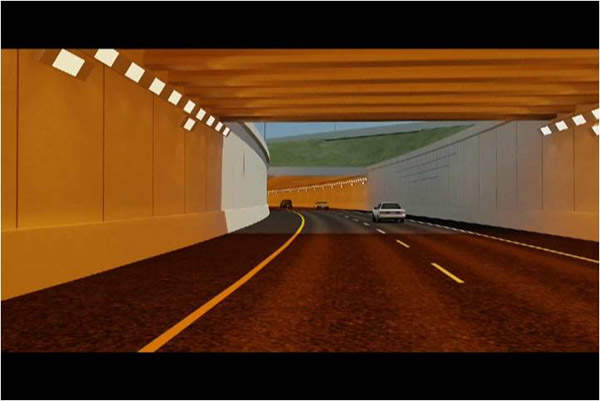 Three new tunnels were constructed as part of the Mitchell Interchange reconstruction project.
