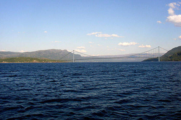 The 1.5km Halogaland Bridge will be the second largest suspension bridge in Norway.