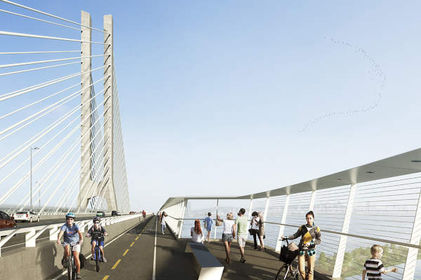 The bridge will be used by up to 60 million vehicles a year. Image courtesy of Infrastructure Canada.