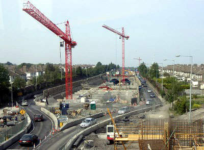 Construction of the tunnel began in 2001 and boring ran from in two directions from Whitehall and back.
