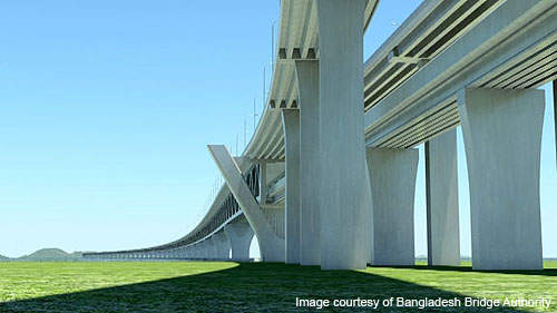 The JICA feasibility study anticipated that the volume of traffic at Padma Bridge will reach 41,600 vehicles a day by 2025.